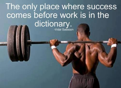 No one wakes up successful.